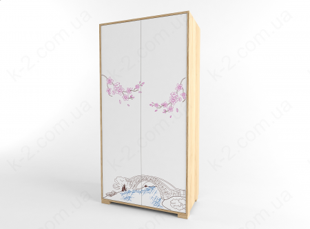 12 Шкаф двухдверный 100 серия Sakura К-2 стандарт