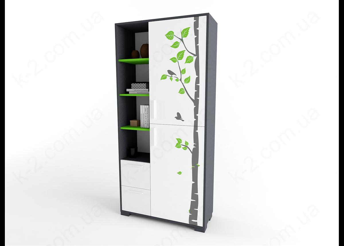 11 Шкаф-стеллаж 100 серия Forest К-2 стандарт