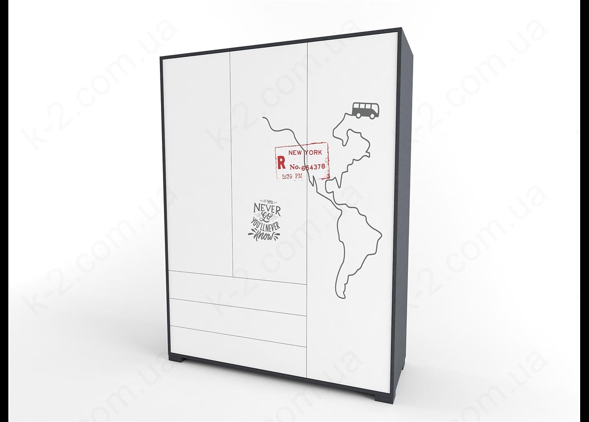 13 Шкаф трехдверный 150 серия Travel К-2 стандарт