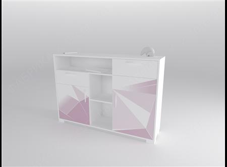 1 Стеллаж низкий 150 серия Triangle Pink К-2 стандарт