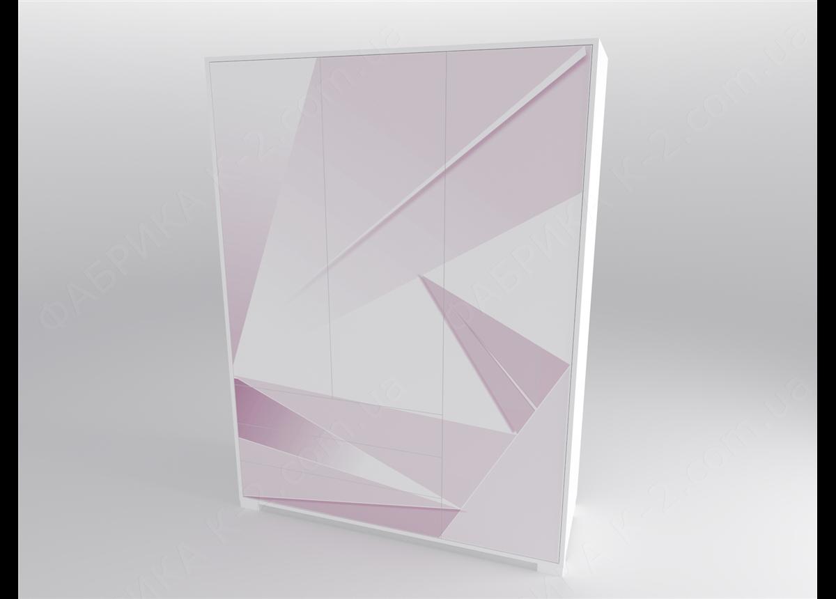 13 Шкаф трехдверный 150 серия Triangle Pink К-2 стандарт